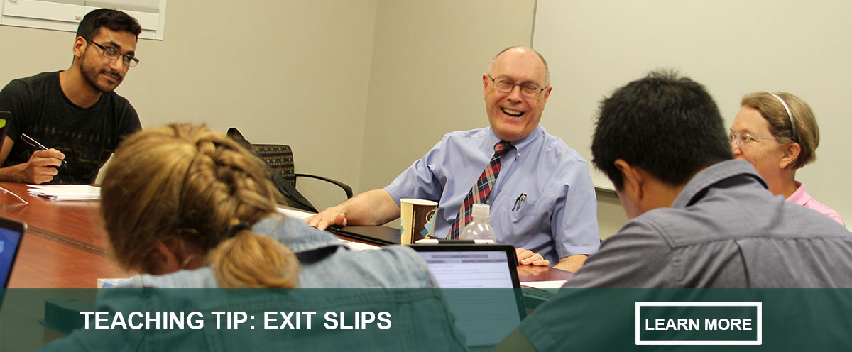 teaching tip on exit slips